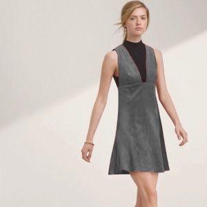 Aritzia Wilfred Montbrun Vegan Suede Dress 10 NWT